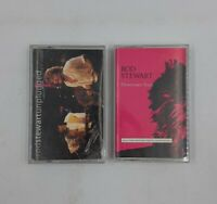 ROD STEWART 2-Cassette Tape Lot UNPLUGGED AND SEATED & DOWNTOWN TRAIN