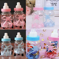 12X Fillable Bottles Candy Box Baby Shower Baptism Party Favour Christening J&S