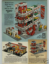 1966 PAPER AD Toy Serviice Station Riverside Level 3 4 24 Hour Cars Attendants