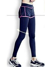 Femme sport yoga running pantalon de fitness gym vêtements jogging pantalon-l rose chaud
