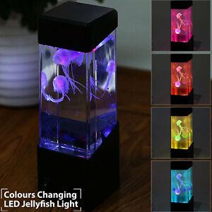 Colour Changing LED Jellyfish Tank Mood Lava Light Aquarium Home Bedroom Decor