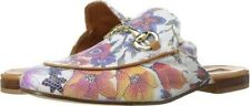 Andre Assous  SZ 6  Priya-Aa Floral Napa Leather Horsebit Mules Italy $245  NEW