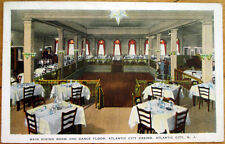 1949 Atlantic City, NJ Postcard: Casino Dining Room & Dance Floor - New Jersey