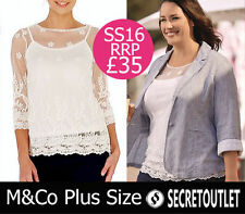 M&Co Scoop Neck Party Floral Tops & Shirts for Women