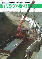 Equipment Brochure - Tadano - TM-30Z ZH - Truck Loader Crane (E3899)