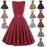 Dress Evening Size Pinup Cocktail Retro Vintage Party Swing 50s Style 60s 50's