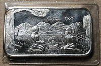 1975 Easter The Justice Mint 1 Ounce .999 Silver Art Bar