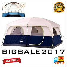 Extra Large Outdoor Family Tent Camping 10 Person 2 Room Cabin Trail Travel FAST