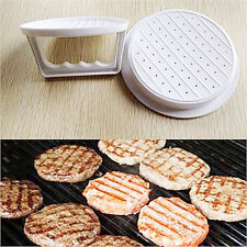 Plastic Burger Press Hamburger Meat Beef Grill Patty Cooking Maker Kitchen Mold'