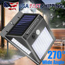 Outdoor 100 LED Solar Lights PIR Motion Sensor Wall Lamp Garden Waterproof Light