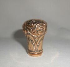 Victorian Gold Filled Walking Stick / Cane Handle Antique Dated 1894