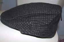 Mens (L-XL) POLO-RALPH LAUREN Houndstooth Wool /Suede Driver's Cap/ Hat (beret)