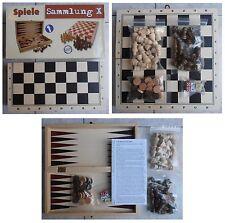 Scacchi portatili in legno con scacchiera in legno cm 29x29 dama backgammon