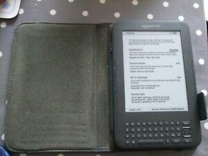 AMAZON KINDLE KEYBOARD (3RD GENERATION 3.4.2 4GB 3G + WIFI + LEATHER CASE