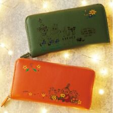 Moomin Little My Snufkin Cowhide Wallet Purse Coin Card Case Japan Gift B5625