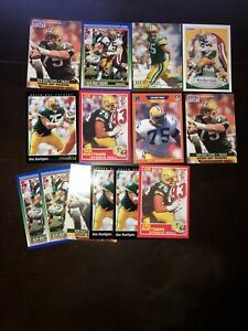 Ken Ruettgers Lot of 14 Packers 7 Different Cards Base, Rookies
