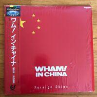 LASERDISC WHAM Wham! In China - Foreign Skies 984P102 EPIC/SONY JAPAN OBI