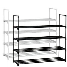 4 Tier Shoe Rack Shoe Tower Shelf Shoe Storage Organizer Cabinet Holds 16 pairs