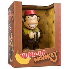 Wind Up Monkey Traditional Retro Novelty Walking Banging Cymbals Clockwork Toy