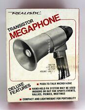 VINTAGE RADIO SHACK REALISTIC TRANSISTOR MEGAPHONE & BOX