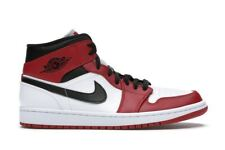Nike Air Jordan 1 Mid Chicago White Heel (2020) - 554724-173