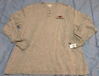 DISNEY CRUISE LINE  Gray Long Sleeve Henley T Shirt Christmas Mickey mens XL