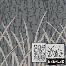 Redleg Camo large 12x9 Stencil Kit 2 piece camouflage grass bark airbrush duck
