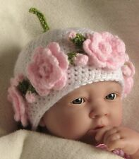 CROCHET PATTERN (INSTRUCTIONS): Rose Garland Hat, baby, child. Multisize, ref 30