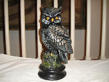 Vintage Owl Ceramic Plaster-Large Size-Painted Detail-Heavy Weight-HOO'L Buy Me?