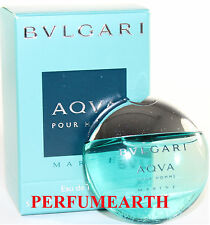 BVLGARI AQVA MARINE MINI 0.16 OZ EDT SPLASH FOR MEN BY BVLGARI & NEW IN A BOX