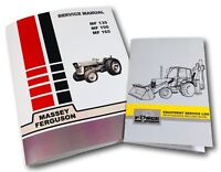 Massey Ferguson 135 150 165 Tractor Service Repair Manual & Maintenance Log