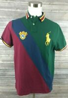 New Polo Ralph Lauren Mens Polo Custom Slim Fit Striped Shirt Large MSRP $98