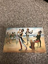 "1905 Misch & Sons African American Buskers "" On The Seashore"" Banjo Tamborine"
