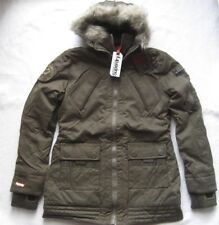 Superdry Women's Jacket with Hoodie Patrol Jacket SIZE L Large Olive Green