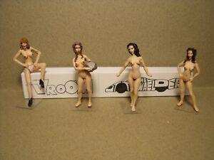 4  FIGURINES  1/43  SET 272  BELLES  NUDE  GIRLS  VROOM  NON PEINT  FOR SCHUCO