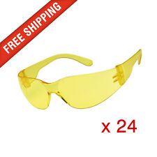 24 x Amber Yellow Safety Glasses Eye Protection Cobra, Texas and Force