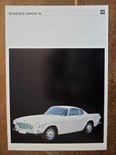 VOLVO 1800S SPORTS CAR orig 1968 UK Mkt Sales Specs Leaflet Brochure - P 1800 S
