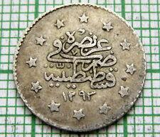 TURKEY OTTOMAN EMPIRE ABDULHAMID II AH 1293//28 - 1902 1 KURUS, SILVER