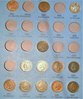1857-1909 Flying Eagle and Indian Head Cent Partial Set / Collection in Album.