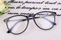 Fashion Retro Frame Clear Lens Nerd Geek Glasses Eyeglass Black Brown Tortoise