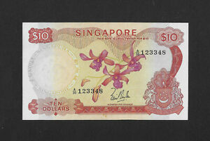 UNC- 10 dollars 1967 SINGAPORE