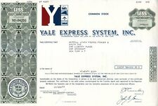 Yale Express System Inc NY 1977 Stock Certificate