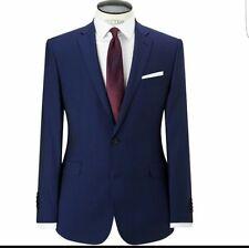 Richard James Mayfair Wool Mohair Blue Suit Jacket Size 38R