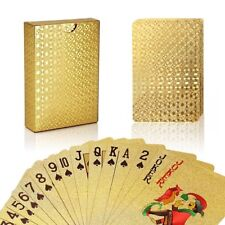 Golden Playing Cards Deck Magic Card Plastic Foil Poker Waterproof Cards Games