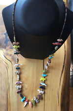Single-strand 30'' Zuni fetish necklace, all genuine stones
