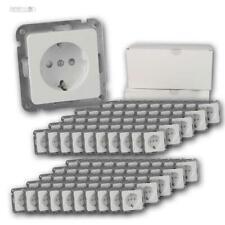 100 Stück MILOS Unterputz Schutzkontakt-Steckdosen weiß matt ohne Rahmen Dose UP