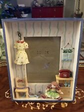 """Russ Handpainted 3D Picture Frame 3"""" x 5"""" Girly Theme"""