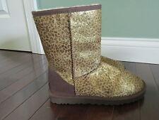 UGG Australia Womens Rosette Chestnut Leopard Short Classic Boots SIZE:7