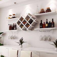 Wall Mount Wine Rack Bottle Gl Holder 4 Shelves Bar Accessories Shelf 3 Color