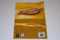 Automobili Lamborghini Nintendo 64 N64 Video Game Manual Only
